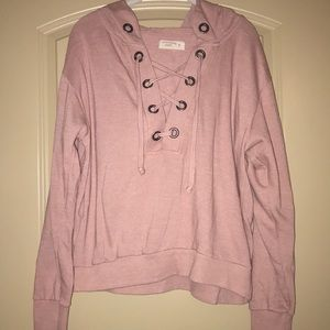 Blush pink relaxed hoodie